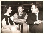Rosalind Russell, RD and Robert Morley between takes