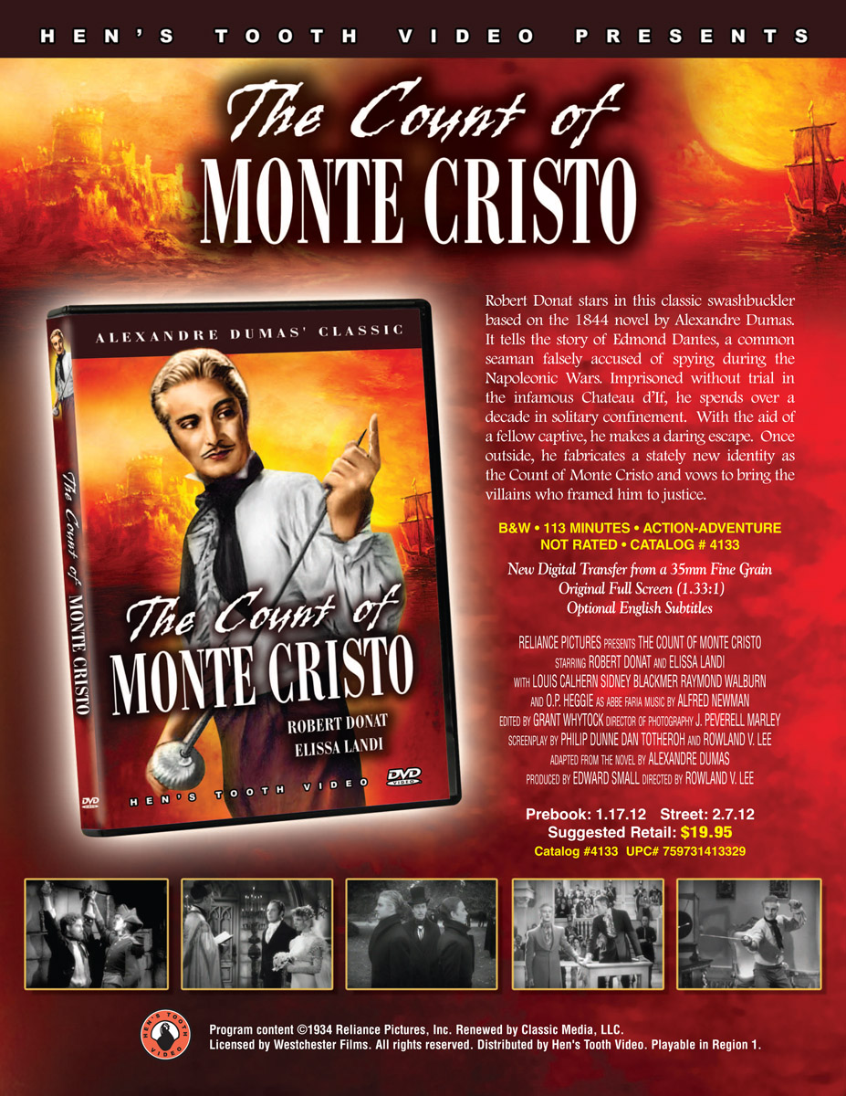 the count of monte cristo is digitally re mastered for 2012 click to enlarge
